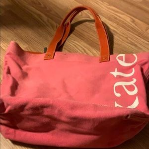 Pink canvas tote Kate spade